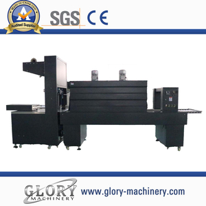 Semi-automatic film shrinking wrapper machine