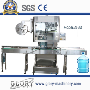 Automatic 5 gallon bottle lap sleeve labeling machine