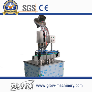 automatic glass bottle crown cap pressing machine
